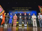 Chau van ritual singing artists given folk awards