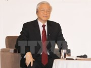Party chief meets JICA President, Japanese walks of life