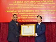 Former World Vision national director receives Friendship Medal