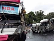 Head-on collision kills one, injures seven Vietnamese in Laos