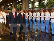 Vietnamese, Cuban Presidents hold talks