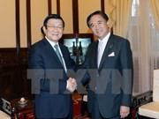 President greets Governor of Japan's Kanagawa prefecture