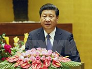 Chinese leader Xi Jinping addresses National Assembly session