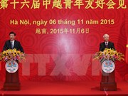 Vietnamese, Chinese top leaders meet the youth in Hanoi