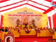 Truc Lam Dai Giac temple in Ha Tinh inaugurated