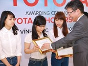 Asia Foundation scholarships granted to 12th grade female students