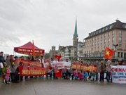 Vietnamese in Switzerland protest China's illegal acts in East Sea