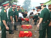 Remains of fallen soldiers repatriated from Cambodia