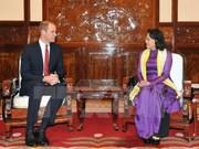 Vice President meets UK Prince