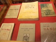 Precious books about Hanoi on display