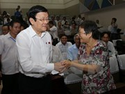 President talks with constituents in HCM City