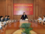 President chairs meeting on judicial affairs