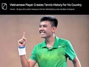Vietnam's tennis player highlighted on US website