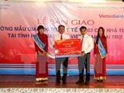 VietinBank funds social works in Hau Giang