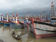 Ca Mau fishermen equipped with communication devices