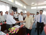 Party chief makes fact-finding tour of Long An province