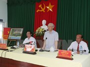 Party chief orders drastic fight against drought in Tien Giang
