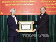 Ho Chi Minh National Politics Academy leaders honoured by Laos