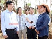 Minister tours drought-hit Binh Phuoc province