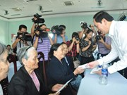 President asserts duty to care for revolutionary contributors