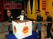 Truong Sa voters go to the polls early