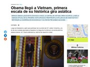 Argentine, Italian press highlight Obama's Vietnam visit