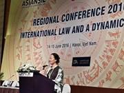 Regional conference highlights international law