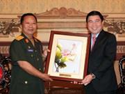 HCM City leader greets Lao defence minister