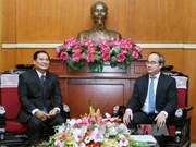 VFF President hosts Lao Front official