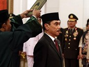 Indonesia names new chiefs for counter-terrorism, food monitoring