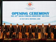 49th ASEAN Foreign Ministers' Meeting opens in Vientiane