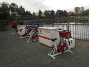 Dual-purpose bikes clean canal