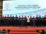 East Asia Summit foreign ministers meet in Laos
