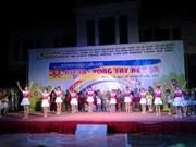 Int'l event gathers Vietnamese, Lao, Cambodian children