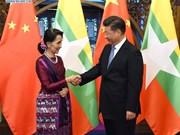 Chinese President meets Myanmar State Counsellor