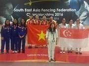 Vietnam triumph at regional fencing champs