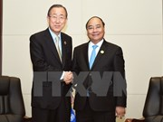 PM meets Australia counterpart, UN leader in Vientiane