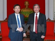 Politburo member welcomes new RoK Ambassador