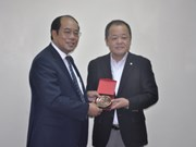 Chairman of Japan Federation of Transport Workers' Union greeted
