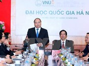 [Video] Prime Minister works with Hanoi National University