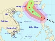 Typhoon Haima enters East Sea