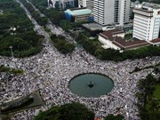 Indonesia: Thousands of Muslim gather against Jakarta's governor
