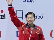 Female swimmer gets bronze medal at Asian event