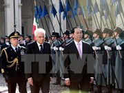 President confident of reaching 6 billion USD trade target with Italy