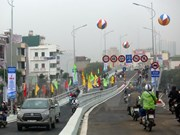 New flyover in Hanoi opens to traffic