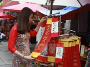 HCM City: calligraphy street bustling ahead Lunar New Year