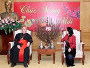 Hanoi Archdiocese leader extends Tet greetings