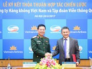 Viettel, Vietnam Airlines ink co-operation agreement