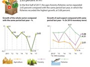 Agro-forestry-fisheries sector grows by 2.65 percent in H1