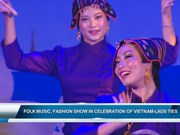 Folk music, fashion show in celebration of Vietnam-Laos ties